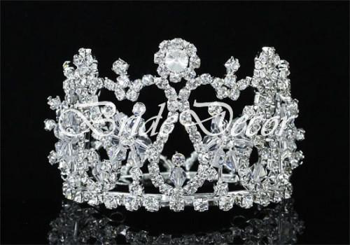 Свадебная мини корона «Зимние мотивы»