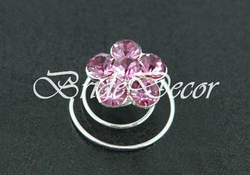 Пружинки для волос «Пурпурные цветы»
