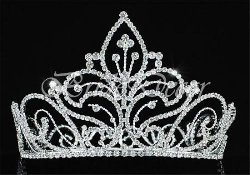 Высокая корона «Цветочная сказка»