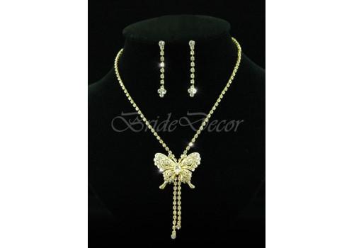 Комплект бижутерии «Золотая бабочка»