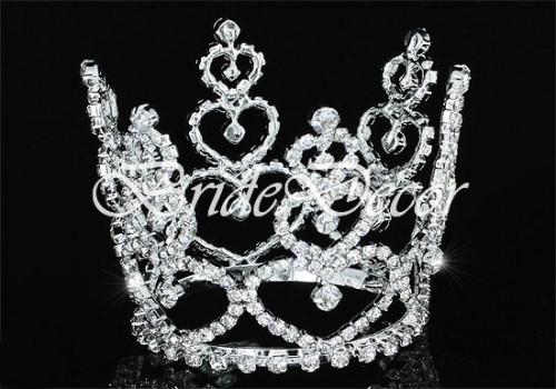 Диадема корона «Сердце невесты»